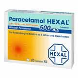 Produktbild Paracetamol 500mg Hexal bei Fieber und Schmerzen Tabletten