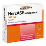Produktbild HerzASS ratiopharm 100 mg Tabletten