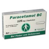 Produktbild Paracetamol BC 125 mg Suppositorien