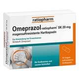 Produktbild Omeprazol ratiopharm SK 20 mg magensaftresistent Hartkapseln