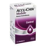 Produktbild Accu Chek Mobile Kontroll Lösung 4 Einmalapplikat.