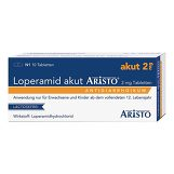 Produktbild Loperamid akut Aristo 2 mg Tabletten