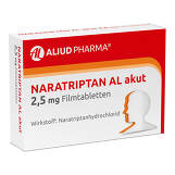 Produktbild Naratriptan AL akut 2,5 mg Filmtabletten