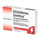 Produktbild Diclofenac Zentiva 25 mg Filmtabletten
