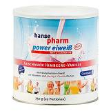 Produktbild Hansepharm Power Eiweiß plus Himbeere-Vanille Pulver