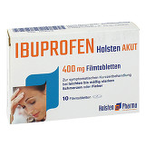 Produktbild Ibuprofen Holsten akut 400 mg Filmtabletten