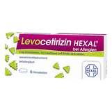 Produktbild Levocetirizin Hexal bei Allergien 5 mg Filmtabletten