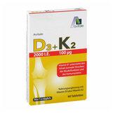 Produktbild Vitamin D3 + K2 2000 I.E. Tabletten