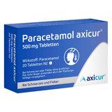 Produktbild Paracetamol axicur 500 mg Tabletten