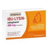 Produktbild Ibu-Lysin-ratiopharm 400 mg Filmtabletten