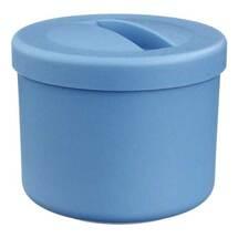 Produktbild Prothesenbehälter blau Kunststoff mit Deckel