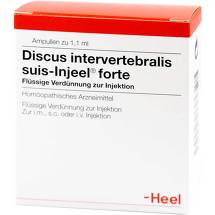 Produktbild Discus intervertebralis suis Injeel forte Ampullen