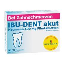 Produktbild Ibu Dent akut Heumann 400 mg Filmtabletten