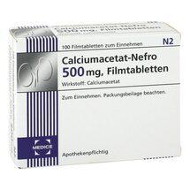Produktbild Calciumacetat Nefro 500 mg Filmtabletten