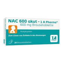 Produktbild NAC 600 akut 1A Pharma Brausetabletten