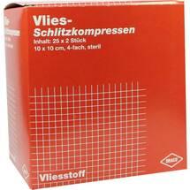 Produktbild Schlitzkompressen Vlies 10x1