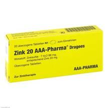 Produktbild Zink 20 AAA Pharma Dragees