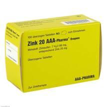 Zink 20 AAA Pharma Dragees