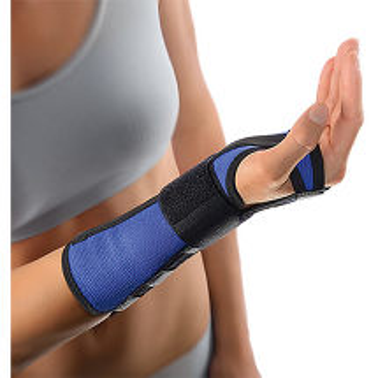 Produktbild Bort Handgelenkstütze mit Aluschiene links medium blau