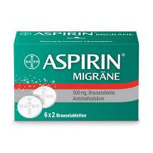 Produktbild Aspirin Migräne Brausetabletten