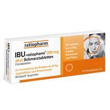 Produktbild Ibu Ratiopharm 200 mg akut Schmerztbl. Filmtabletten