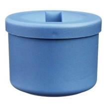 Produktbild Prothesenbehälter Kunststoff Deckel und Einsatz blau