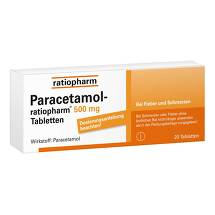 Produktbild Paracetamol ratiopharm 500 mg Tabletten