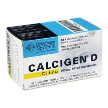 Produktbild Calcigen D Citro 600 mg / 400 I.E. Kautabletten