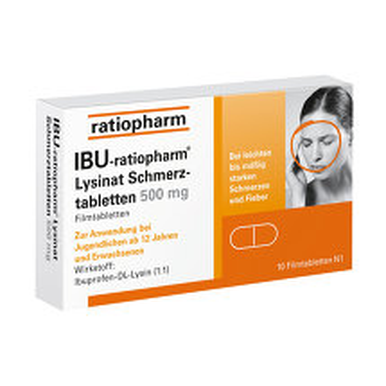 Produktbild Ibu Ratiopharm Lysinat Schmerztabletten 500 mg