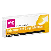Produktbild Folsäure AbZ 5 mg Tabletten