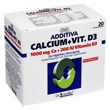 Produktbild Additiva Calcium 1000 mg + Vit.D3 Beutel