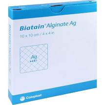 Produktbild Biatain Alginate Ag Kompressen 10x10 cm mit Silber