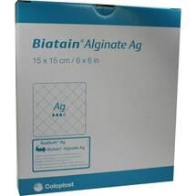 Produktbild Biatain Alginate Ag Kompressen 15x15 cm mit Silber