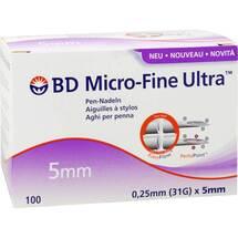 Produktbild BD Micro-Fine Ultra Pen-Nadel 0,25x5 mm Cpc