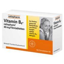 Produktbild Vitamin B6 ratiopharm 40 mg Filmtabletten