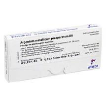 Produktbild Argentum metallicum Präparat D 8 Ampullen