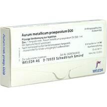 Produktbild Aurum metallicum Präparat D 20 Ampullen