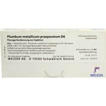 Plumbum metallicum Präparat D 6 Ampullen