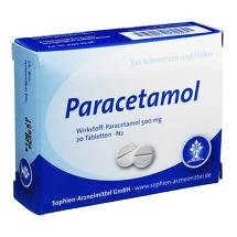 Produktbild Paracetamol Sophien 500 Tabletten