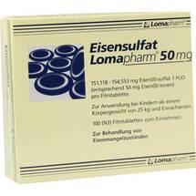 Produktbild Eisensulfat Lomapharm 50 mg Filmtabletten