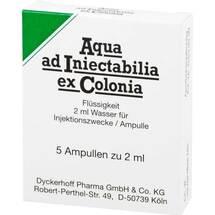 Aqua AD Iniectabilia ex Colonia Ampullen