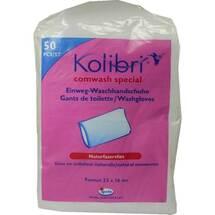 Produktbild Kolibri comwash Special Waschhandschuhe 16x24cm weiß