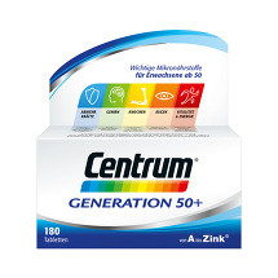 Produktbild Centrum Generation 50+ A-Zink + Flora