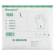 Produktbild Manuplast Einmal Handschuhe groß, hell