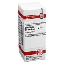Strontium carbonicum D 12 Globuli
