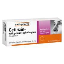 Cetirizin ratiopharm b.Allergie 10 mg Filmtabletten