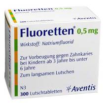 Produktbild Fluoretten 0,5 mg Tabletten