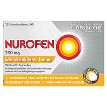Produktbild Nurofen 200 mg Schmelztabletten Lemon