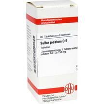 Produktbild Sulfur jodatum D 5 Tabletten