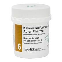 Produktbild Biochemie Adler 6 Kalium sulfuricum D6 Adl.Ph. Tabletten